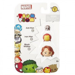 Marvel Tsum Tsum 3 Pack Series 1 Figures - Ant-Man, Iron Man and Black Widow