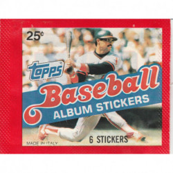 1983 Topps Baseball Sticker Pack