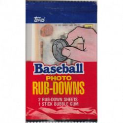 1984 Topps Photo Rub-Downs