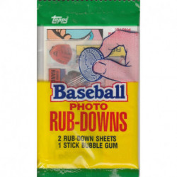 1985 Topps Photo Rub-Downs