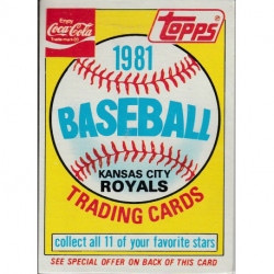 1981 Topps Coca-Cola Kansas City Royals Pack