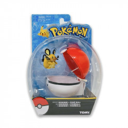 Pokemon Clip n Carry- Dedenne with Pokeball Figure Set