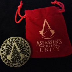 Assassin's Creed Unity Coin w/ Velvet Pouch