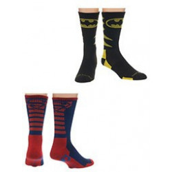 DC - Batman and Superman Socks - 2 pack