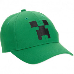 Minecraft Creeper Face Hat, Green Youth Size